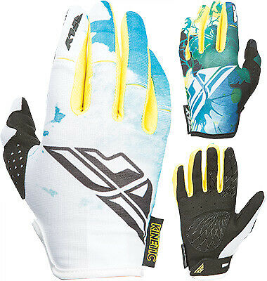 Fly Racing 2017 Kinetic Women's Gloves Teal/Yellow 370-61808 Lg