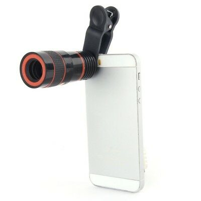 US Clip on Universal Optical Zoom HD Telescope 12x Camera Lens For Smart Phone