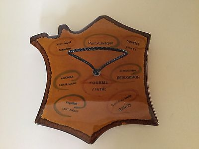 Vintage Ceramic Handled Cheese Tray // French Cheeses // Very Nice !!