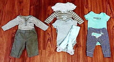 Baby Boys 3 Months Carters Lot Winter Summer Outfit Sets Pants And One Pieces