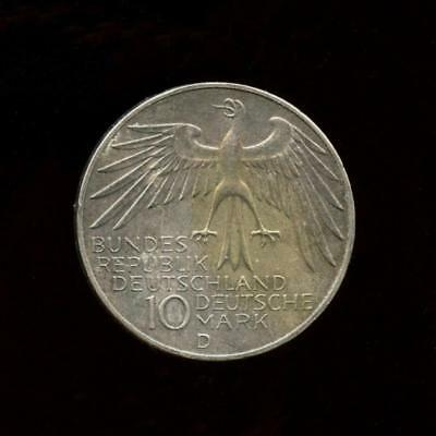 1972 D Federal Republic of Germany MUNICH OLYMPICS 10 Mark SILVER Coin - KM# 133