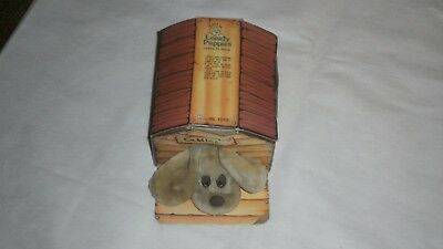 Vintage Little Lonely Puppy CUDDLES stuffed animal in a Box, 1985 JRL Toys