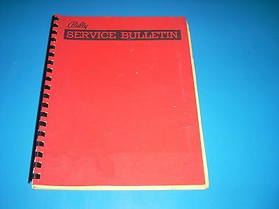 Bally Service Bulletins 1977-1978 42 pages Tech Tips Jumpers Modifications etc.