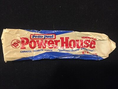 Peter Paul POWERHOUSE 15 cent Vending bar candy wrapper. Extremely rare