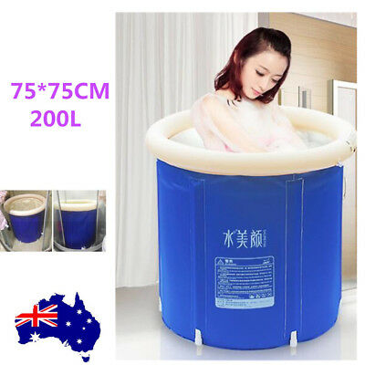 Portable Foldable PVC Bathtub Blow Up Home Massage Spa Relaxing Travel Indoor AU