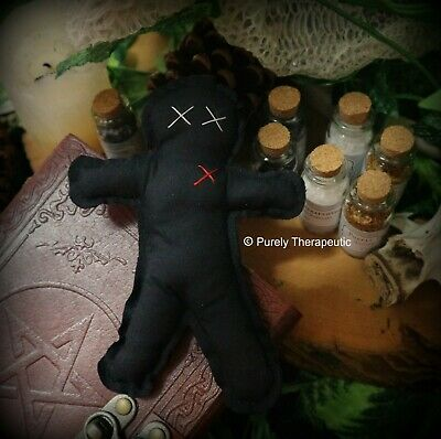 VOODOO DOLL Wicca Witchcraft Poppet Hoodoo Magic Ritual Spell Vodou Pagan Curse