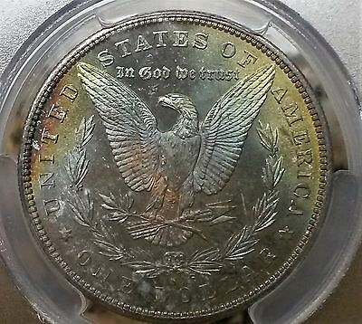 1880-S Morgan Dollar MS64+ PLUS  PCGS Monster Toned Coin !