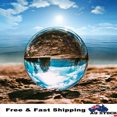 Clear Glass Crystal Photography Lens Ball Photo Prop Background Home Decor Gift