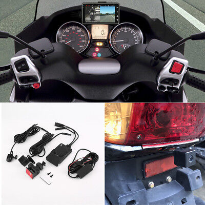 """3"""" Inch Dual Motorcycle Camera Front+rear HD MP4 Video Recorder Waterproof 12V"""