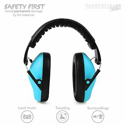 Autism Ear Defenders Hearing Protection Kids Adult Ear Muffs Noise Reduction Blu