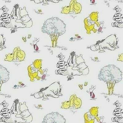 Disney Winnie The Pooh Fabric Fat Quarter Cotton Craft Quilting Licensed Eeyore