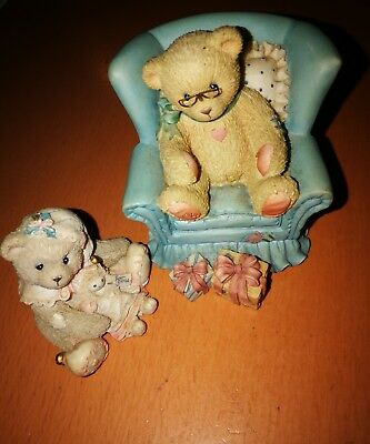Cherished Teddies*2 Stück*Growing Better each Year*1997*Girl Elf with Doll*1995*