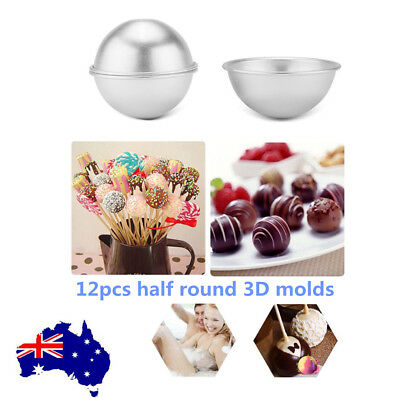 NEW 12PCS Round Aluminum Bath Bomb Molds Moulds DIY Homemade Crafting GIFTS AU