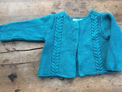 Gilet Maille Obaibi 12 Mois Turquoise BE