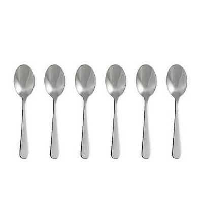 New Ikea DRAGON High Quality 6 pack of Dessert spoon Stainless steel -B111