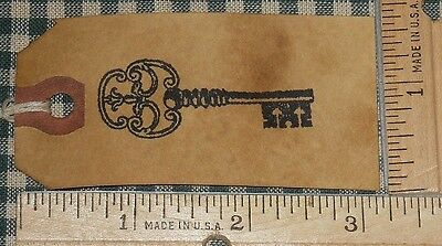 25 MEDIUM ANTIQUE Victorian SKELETON KEY PRIMITIVE GIFT HANG TAGS price decor