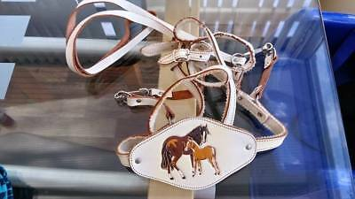 Vintage Toddler Baby Reins Cream Leather Horses Walking Safety