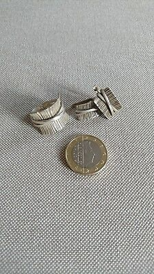 Set Sterling Silver 925 Clip on Earrings and Ring