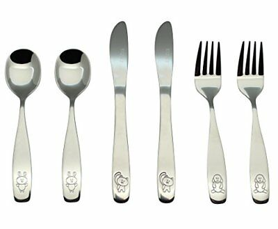 Exzact Stainless Steel 6 pcs Children's Flatware Cutlery