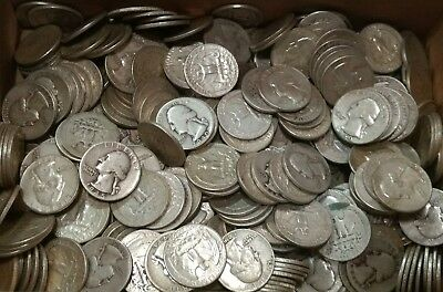 $100 face value in 90% SILVER Washington Quarters. Dates 1964 and earlier.