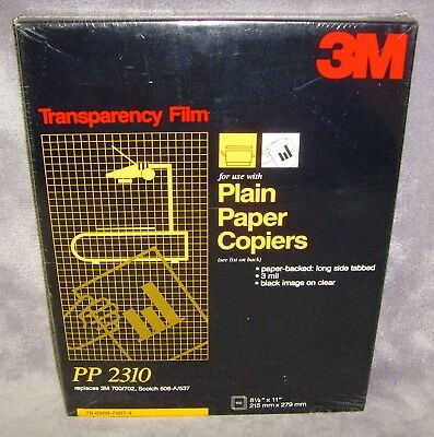 3M•100 Sheet•Overhead Projector•Transparency Film•For Plain Paper Copier•PP 2310