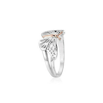 BRAND NEW Clogau Silver & Rose Gold Butterfly Ring £50 OFF RRP £139* SIZE L