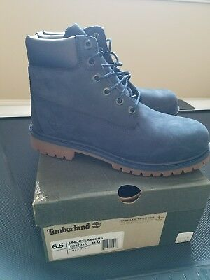 Big Kids/Tween Timberland 6 Inch Premium Boot Navy Blue Sz. 6.5Y NEW