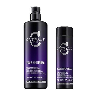 Tigi Catwalk Your Highness Shampoo 750ml + Your Highness Conditioner 250ml