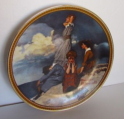Knowles Norman Rockwell Rediscovered Women Waiting on the Shore #2 Plate