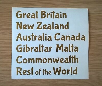 Self Adhesive Gold Vinyl Titles for Postage Stamp Stock Books
