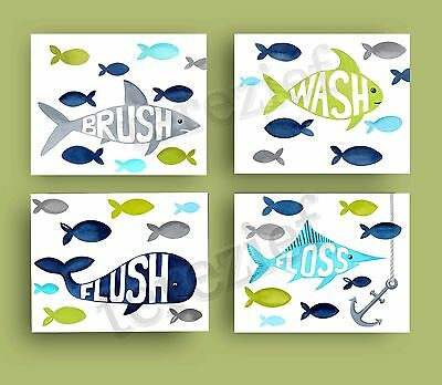 fish bathroom art prints 4 pillowfort shower curtain decor bath rules brush wash