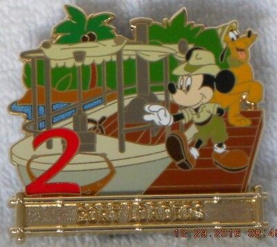 Disney WDI JINGLE CRUISE 12 Days of Christmas #2 Pin LE 250 Mickey Pluto Boat