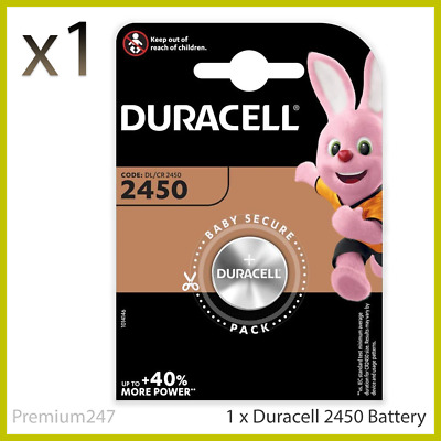 Duracell CR2450 3V Lithium Coin Cell Battery 2450 DL2450 K2450L Longest Expiry