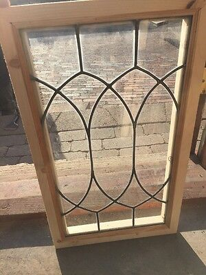 Sg 1388 Antique Leaded Glass Window 14 1/16 X 23.5