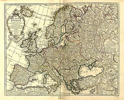 12x18 inch Reprint of European Map World