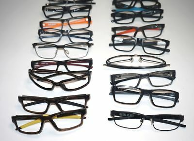 SET OF 35 Unisex eyeglasses frames  assorted Oakley with cases ! 100% Authentic