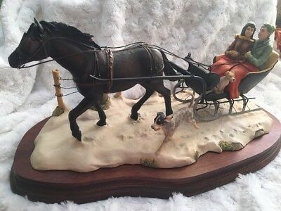 """Lowell Davis,  """"What Rat Race?"""" , Ltd Ed, Horse and carriage  Figurine"""