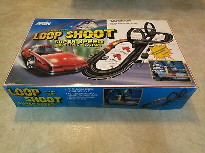 Vintage Artin Loop Shoot Electric Slot Car Race Set - For Parts - Unused