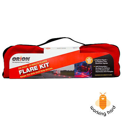 ROAD FLARE KIT 30 Minutes Flares Car Emergency Highway Safety Protection 6 PACK