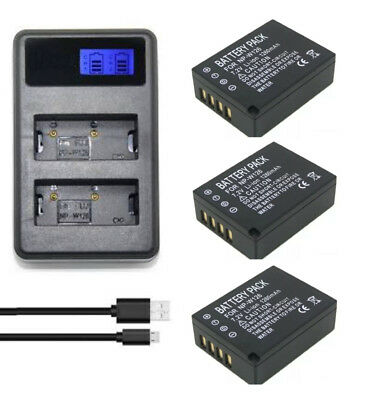 Dual charger+Battery for Fujifilm NP-W126 and Fuji FinePix X-A1,X-M1,X-Pro1,X-T1