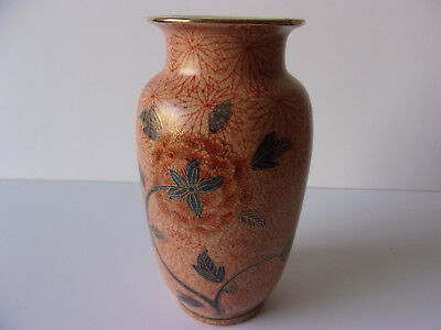 Antiqe Japanese Hand Crafted 1920's Ceramic Vintage Painted Flower Vase