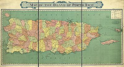 12x18 inch Reprint of World Countries Map Puerto Rico