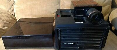 Bell & Howell AF 70 Slide Cube Projector, Auto Focus With Remote Control.
