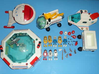 1980's Playmobil Space *Vehicles *Figures *Accessories * Weapons *Tools Lot