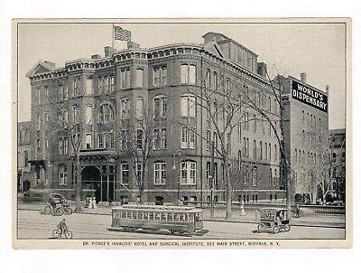 Antique Dr Pierce's Medicine Invalids Hotel Surgical Institute Flyer Buffalo NY