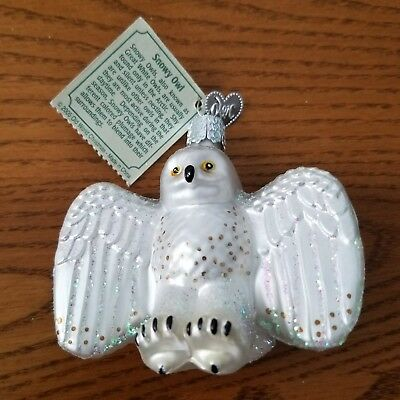 Old World Christmas Ornament by Merck Family Snowy Owl New with Tag