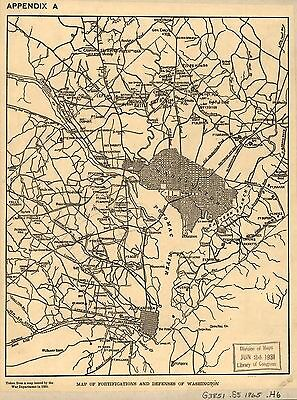 12x18 inch Reprint of American Military Map Washington Dc