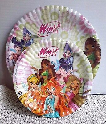 Winx Club │20 Party Teller Pappteller │ 10x Ø 18 cm + 10x Ø 23cm  │Neu