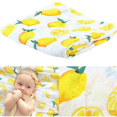 Soft Muslin Newborn Baby Wrap Swaddling Blanket Infant Swaddle Towel 115x115cm