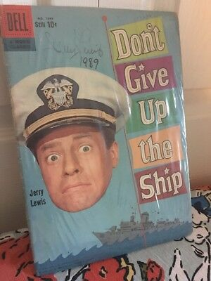 Don't Give Up the Ship (Sep 1959, Dell),Comic Book. Signed by Jerry Lewis.RARE